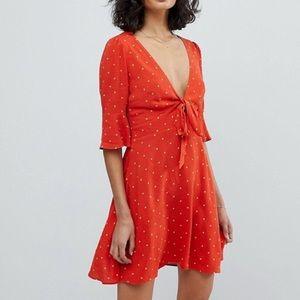 Free People red polka dot dress
